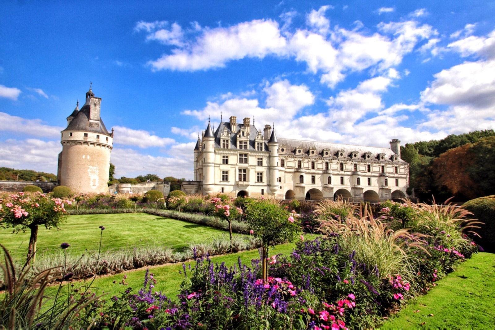 Un'atra vista su Chenonceau e i sui splendidi giardini.