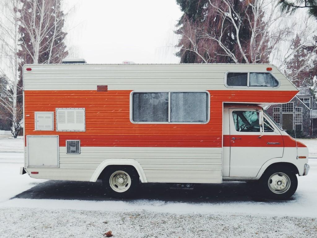 camper in inverno