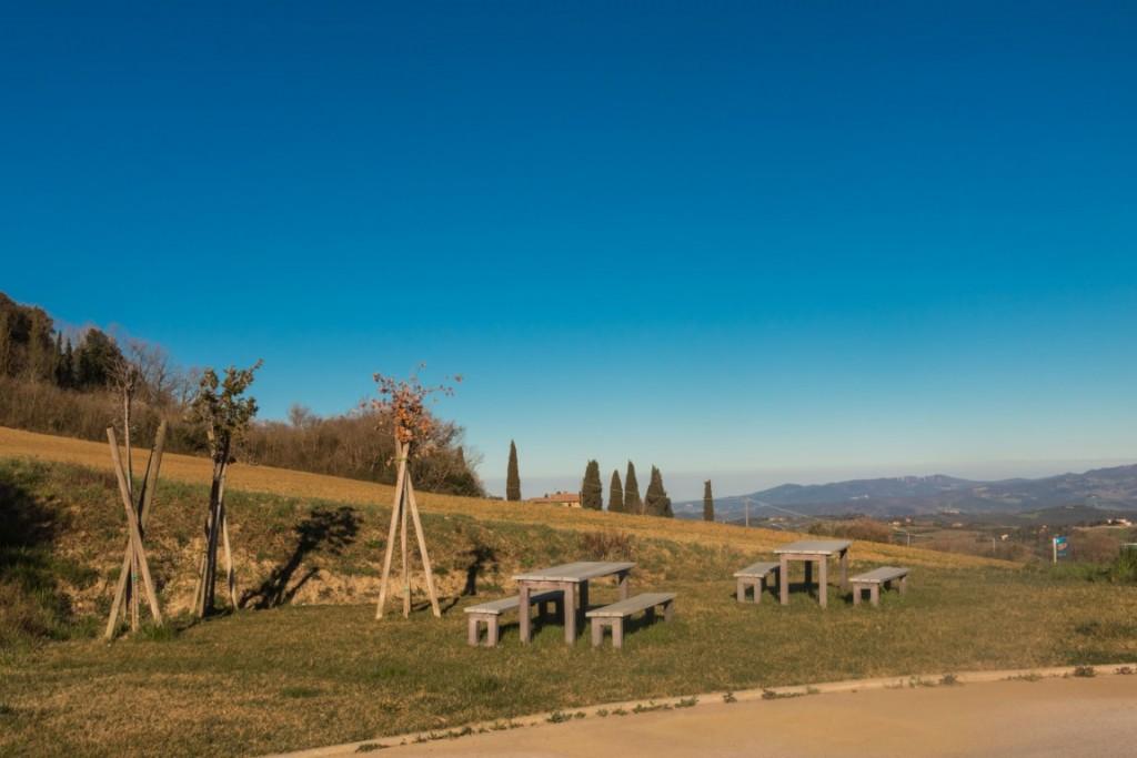 Area Sosta Pomarance: Area picnic