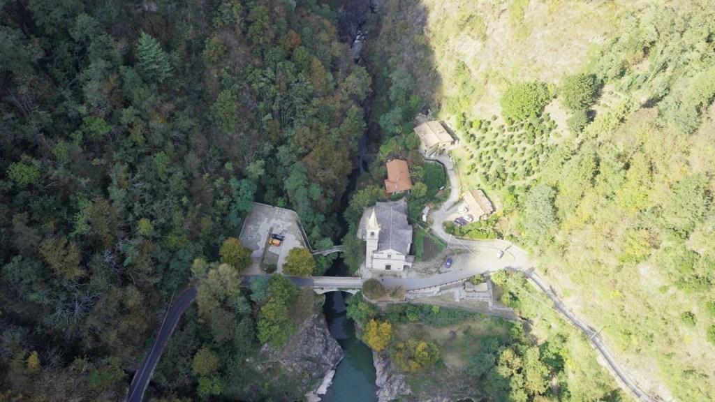 Orrido Sant Anna dal drone
