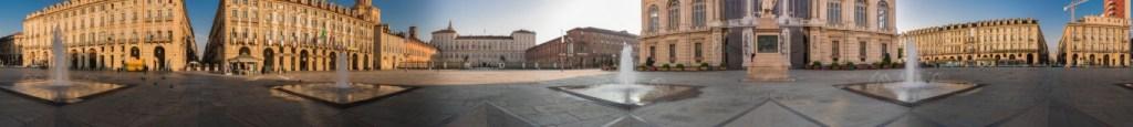 Piazza Castello 360 gradi