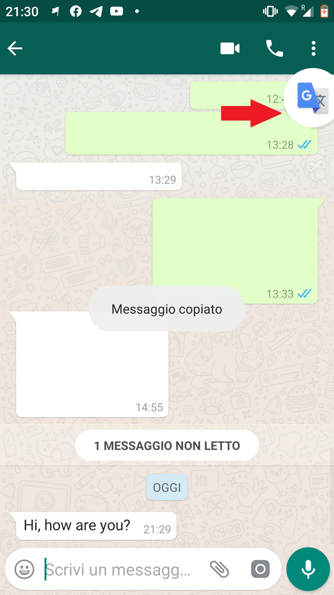 whatsapp da tradurre