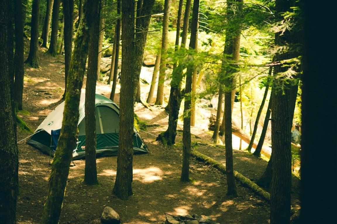 campeggio in mezzo ai boschi