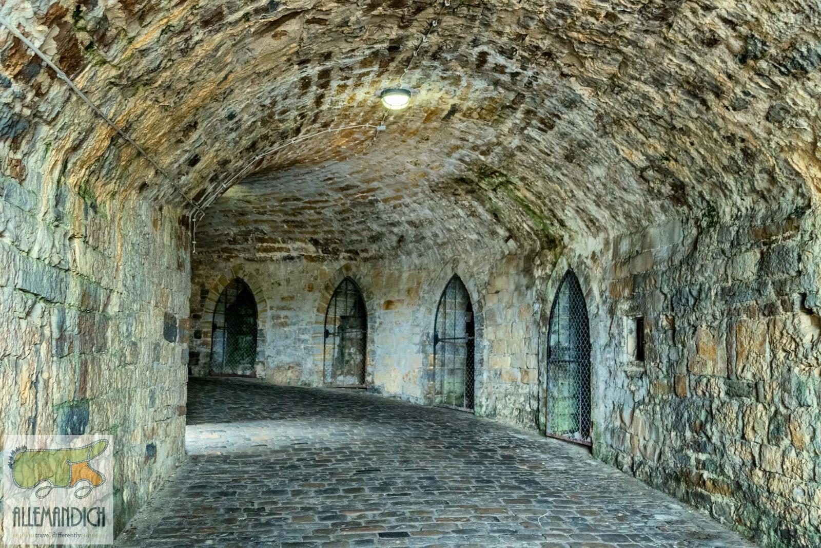 tunnel per il castello