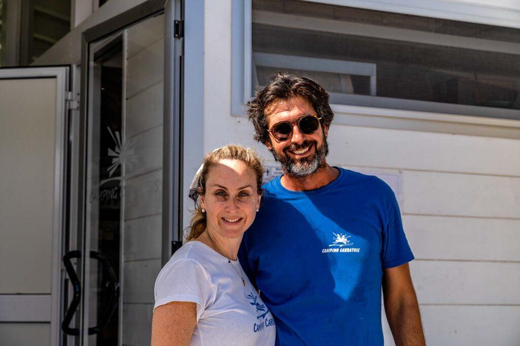 Carmelo e Tiziana del Camping Carratois
