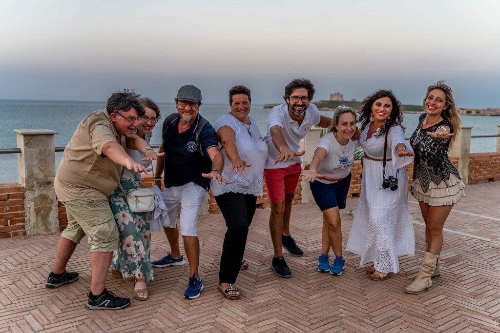 Foto di gruppo a Portopalo