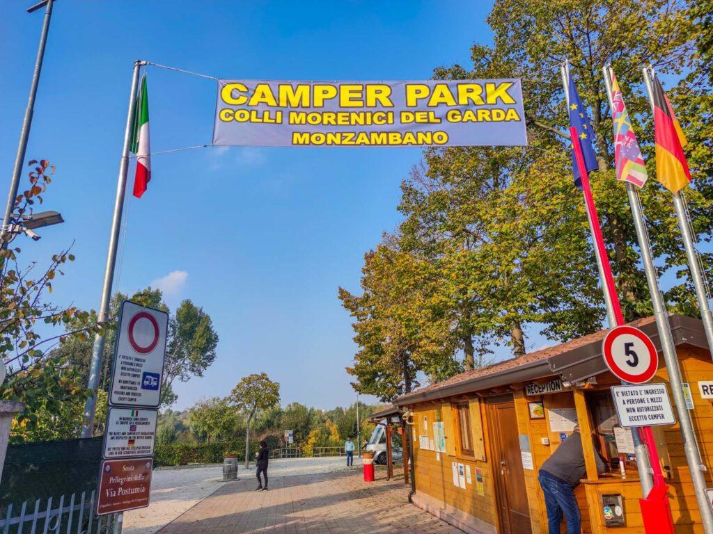 ingresso area camper